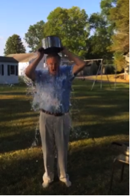 Steve Forbes completing the Ice Bucket Challenge